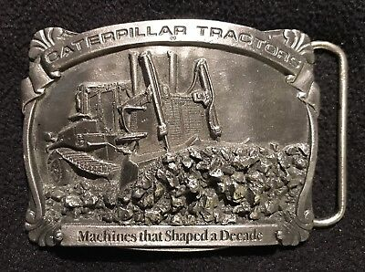 Caterpillar Tractor Vintage Sales Guides Belt Buckle.