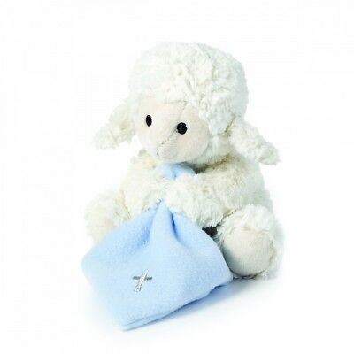 (Blue) - Nat and Jules Jesus Loves Me Musical Plush Lamb with Blanket