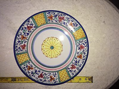 2 Artistica Hand Painted Italian Pottery Plate/pottery Plates 11 1/4 ""