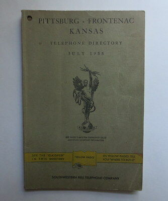 1955 Telephone Directory Pittsburg ~ Frontenac Kansas