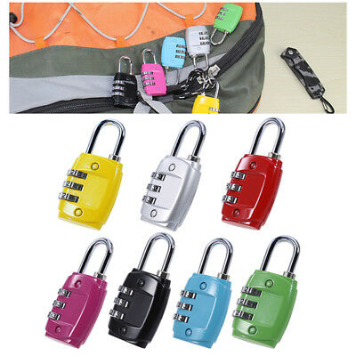 3 Combination Number Padlock Luggage Case Bag Security Travel Suitcase Locks HOT