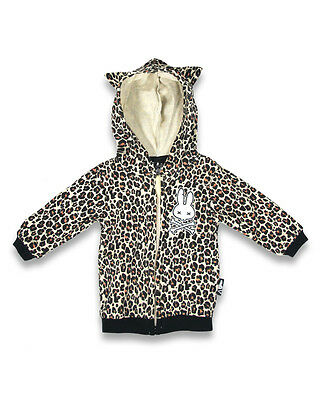 Baby Hoodie Leopard Print Rockabilly Tattoo Six Bunnies Girls Punk Animal Cheeta
