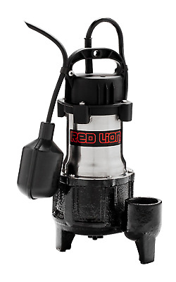 Red Lion RL-SS50T 115V 1/2 HP Premium Submersible Stainless Steel Sump Pump