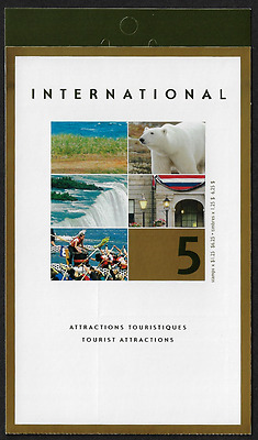 Canada Stamps — Booklet Pane of 5  — Tourist Attractions #1990 (BK271) — MNH