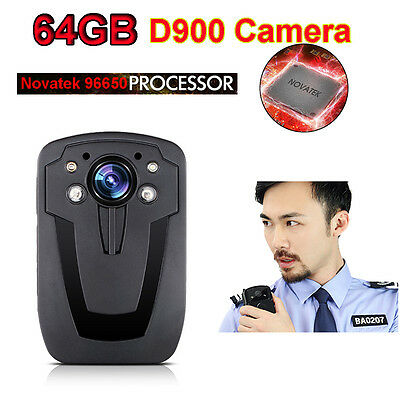 "D900 Police Wearable Body Video Body Camera Recorder DVR HD 1080P Digital 2"" LCD"