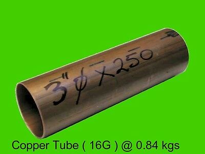 "Copper Round Tube 3"" dia x 250 mm-Steam-Lathe-Mill-Model-OG"