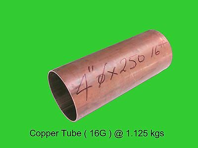 "Copper Round Tube 4"" dia x 250 mm-Steam-Lathe-Mill-Model-OG"
