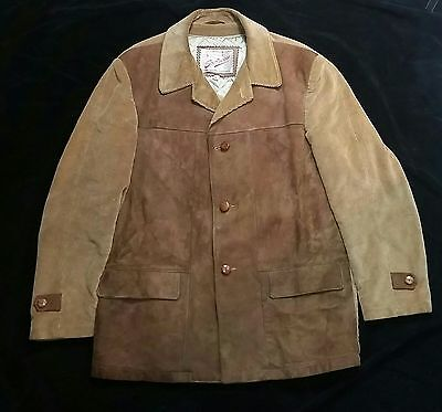 VINTAGE 50s/60s SPORTSWEAR CORDUROY & SUEDE QUILT LINED SPORTS JACKET 40
