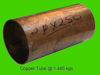 "Copper Round Tube 5"" dia x 250 mm-Steam-Lathe-Mill-Model-OG"