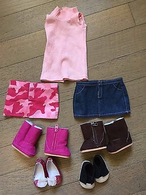 "Lot Shoes & Clothes for  18"" Doll American Girl Doll"