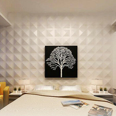 White 3D Wall Panels Embossed Signboard Background Wall Decoration Wallpaper