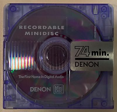 One (x1) Denon pre-owned recordable 74 minute MiniDisc with case   FREE AusPost