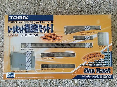 Fast & Free Shipping NEW Tomix 91092 Mainline Passing Electric Turnout Track Set