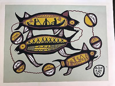 Rare Norval Morrisseau serigraph early 1960's Canadian Aboriginal Master painter