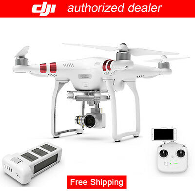 DJI Phantom 3 Standard RC Drone w/ 3-Axis Gimbal Camera + Extra One Battery
