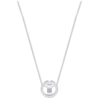 NEW Swarovski Hollow Small Rhodium Pendant