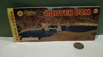 VINTAGE HOOVER DAM POST CARD PACK AND MINI VIEWS 7 of 8 post cards left