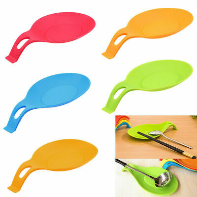 1pcs Hot Sales Resistant Spoon Fork Mat Rest Utensil Spatula Holder Kitchen Tool
