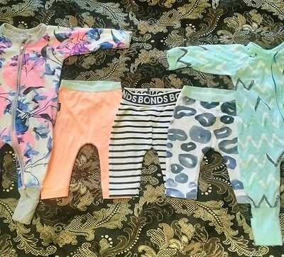 BONDS size 000 baby wondersuits and leggings
