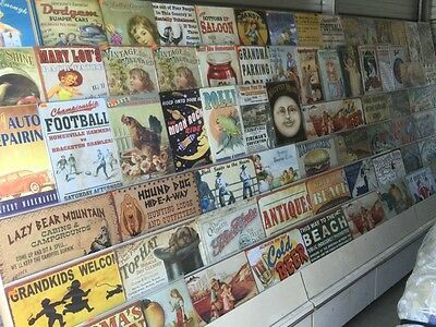 Huge lot of Metal signs and home decor $24,940 retail value! Store liquidation!