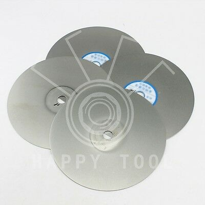 "6"" Grit #60 to 3000# Diamond Coated Flat Lap Wheel For Grinding Disc Disk Tool"