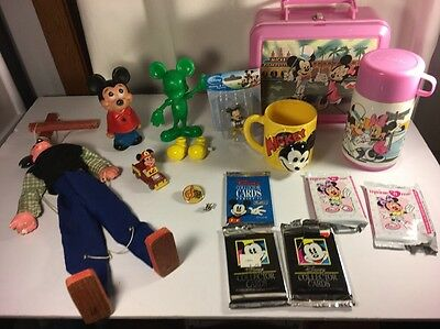 Mickey & Minnie Mouse Collectibles Walt Disney Mixed Lot Of 15 Toys Figurines