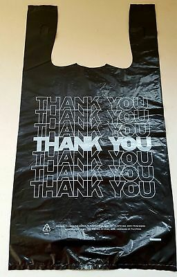 T-Shirt Thank You Plastic Grocery Store Shopping Carry Out Bag Recyclable 100Ct