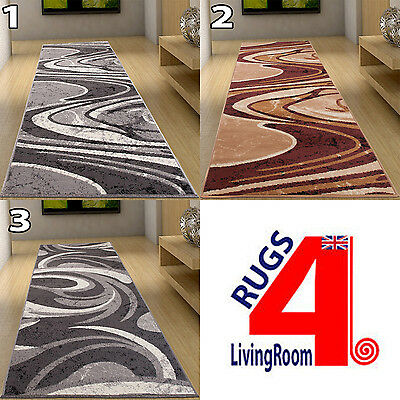 New Very Long Cheap Soft Runners For Hallway Hall Beige And Grey 120 CM WIDTH