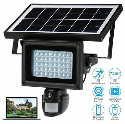 ECO Solar Power Outdoor Security DVR Camera With Night Vision TF Card 1280*720HD