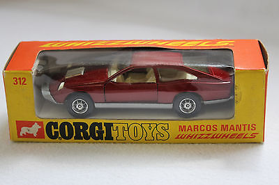 SELTENES ALTES GORGI TOYS AUTO MARCOS MANTIS No 312 MIT OVP MADE IN GB