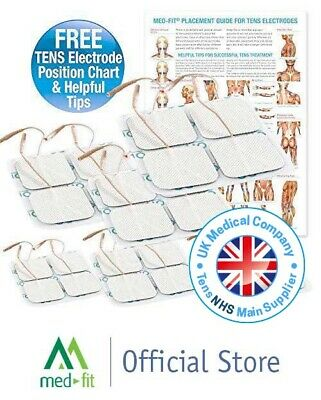 Med-Fit Tens pads 16 electrodes 4 packs of self adhesive Tens Electrodes 5x5cm