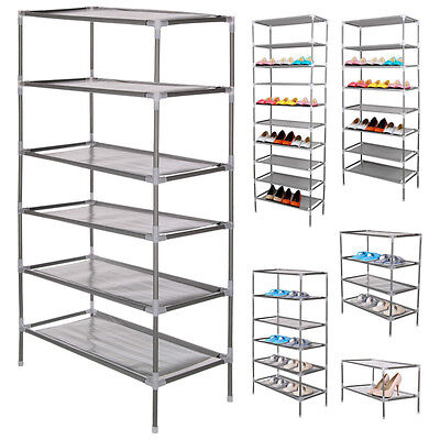 2~10 Tiers Adjustable Metal Shoes Shelf Rack Stand Organizer Storage Boot Holder
