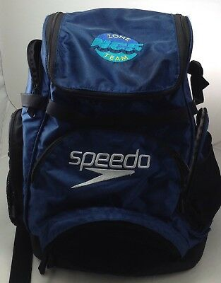 Speedo Large Teamster Backpack Swim Bag 35 L Liter Blue Very Nice Condition