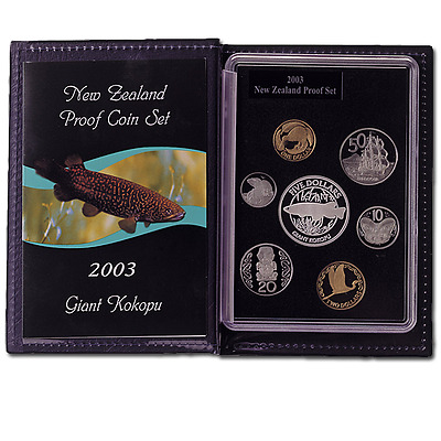 New Zealand - 2003 - Silver Proof Coin Set -  Giant Kokopu or Giant Trout