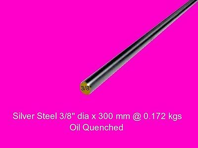 "Silver Steel 3/8"" dia x 300 mm ( Water W1 ) -Tools-Lengths-Lathe-Mill-Steam"