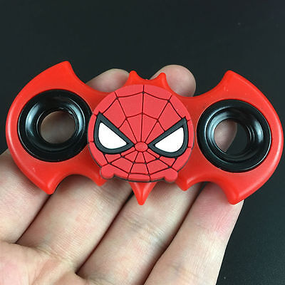 Batman Spiderman Tri Fidget Spinner Hand Finger EDC Focus Desk Toy Gyro