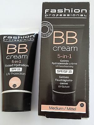 BB CREAM 5-en-1, teinte medium, protection UV 15 - 50 ml  - neuf