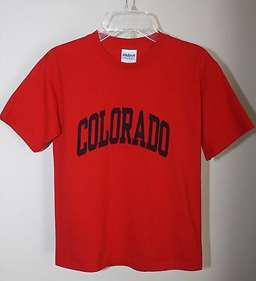 Youth Red Colorado T-shirt Unisex Size M