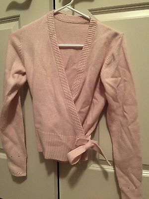 Capezio Classic Knit Wrap Sweater Pink Adult Small, New
