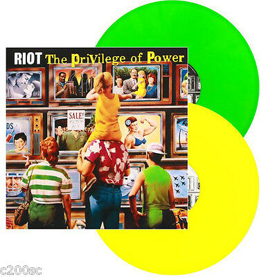 RIOT - THE PRIVILEGE OF POWER, 2015 EU GREEN/YELLOW vinyl 2LP, 500 COPIES! NEW!