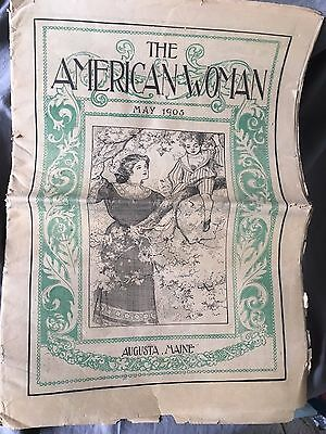 Antique 1905 The American Woman Newspaper Magazine Augusta Maine Complete