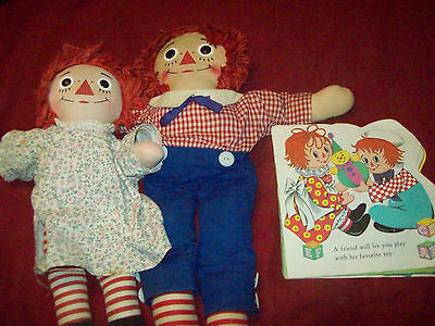 """Vintage Raggedy Ann & Andy Approx. 18"""" Tall"""