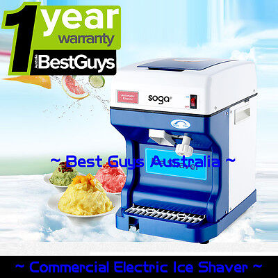Electric Commercial Snow Cone Machine Ice Maker Ice Shaver Ice Crusher 220V 68