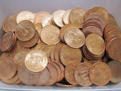Kilo of Elizabeth II Halfpennies from circulation, most are bright uncirculated