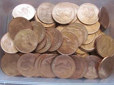 Kilo of Elizabeth II Pennies from circulation, most are bright uncirculated