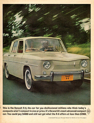 1962 classic import compact car , French RENAULT R-8 less than $1900 ! 053117