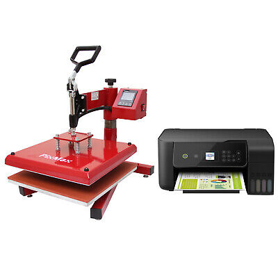 Heat Press Sublimation Swing 38 x 38cm Tshirt Print Transfer Machine & Printer