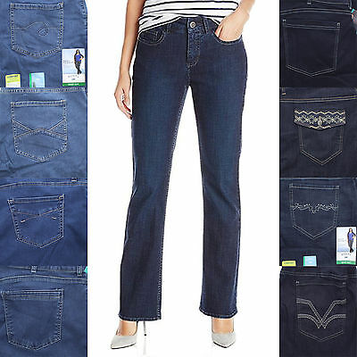 Riders by Lee Women's Irregular Mid Rise Boot Cut Fit Jeans Pants Bottoms 16-26