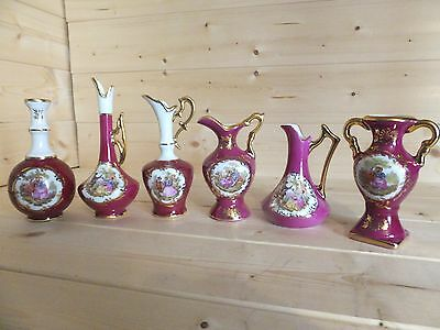 Collection 6 x Miniature Vases  Jugs Limoges.