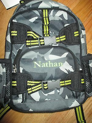 BOY POTTERY BARN KIDS SHARK BACKPACK MINI PRE-K Nathan